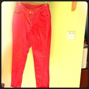 Bright red  cheap Monday jeans